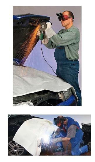 Svářečská deka - do 600 stupňů - 200x200cm - 334080105 AHProfi