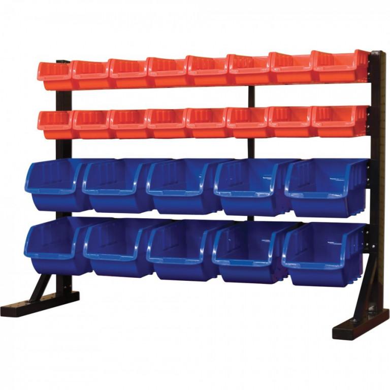 Kovový organizér na šroubky s 26 plastovými boxy - MSBRT3626 AHProfi
