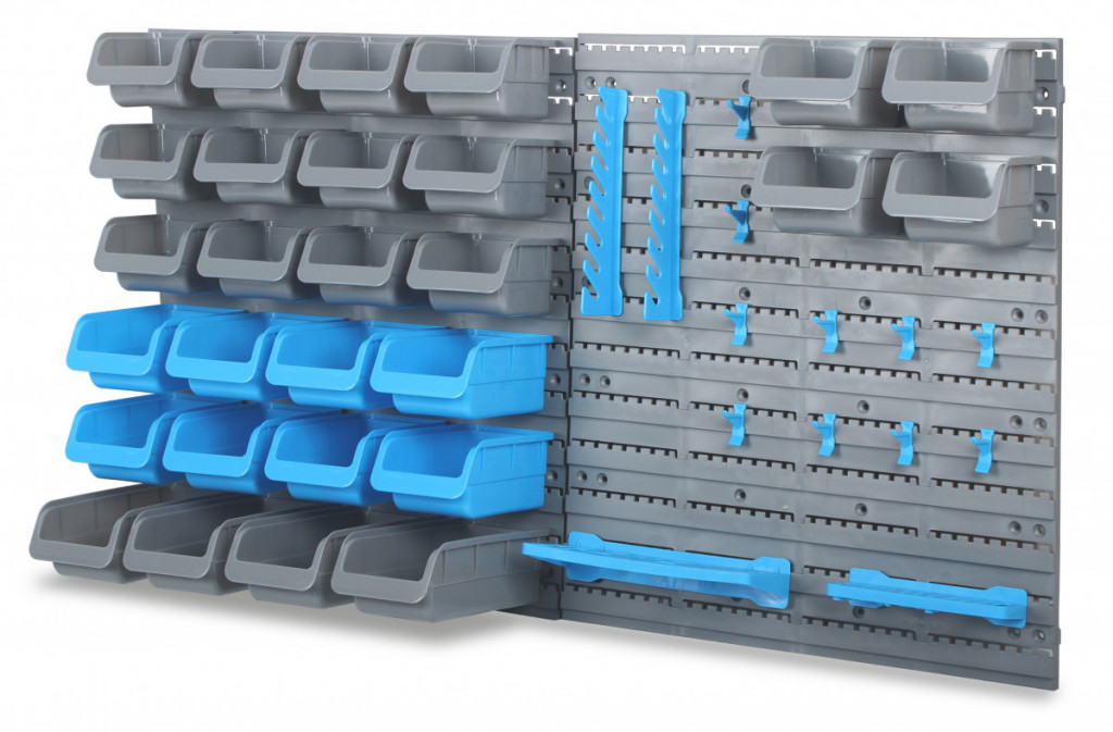 Závěsný organizér na šroubky s 44 ks plastových boxů - MSBRWK4400 AHProfi