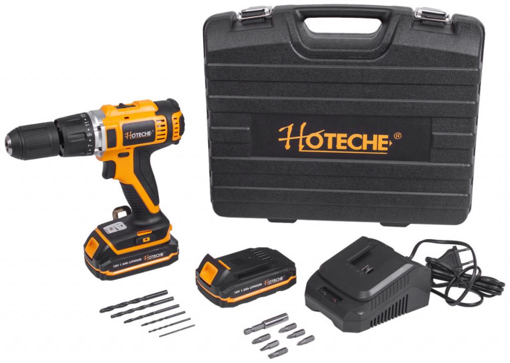 AKU vrtačka s příklepem, 1-13mm, 18V, 45Nm - HTP800105 Hoteche