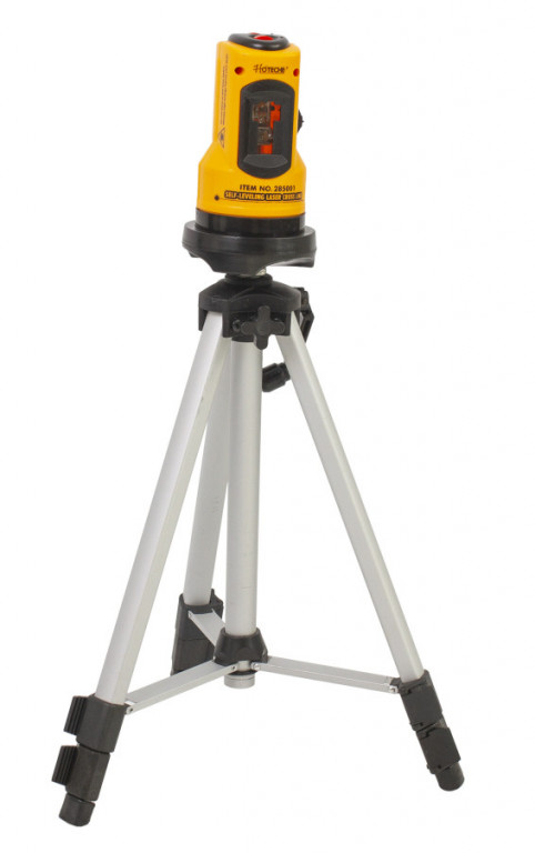 Samonivelační křížový laser se stojanem - HT285001 Hoteche