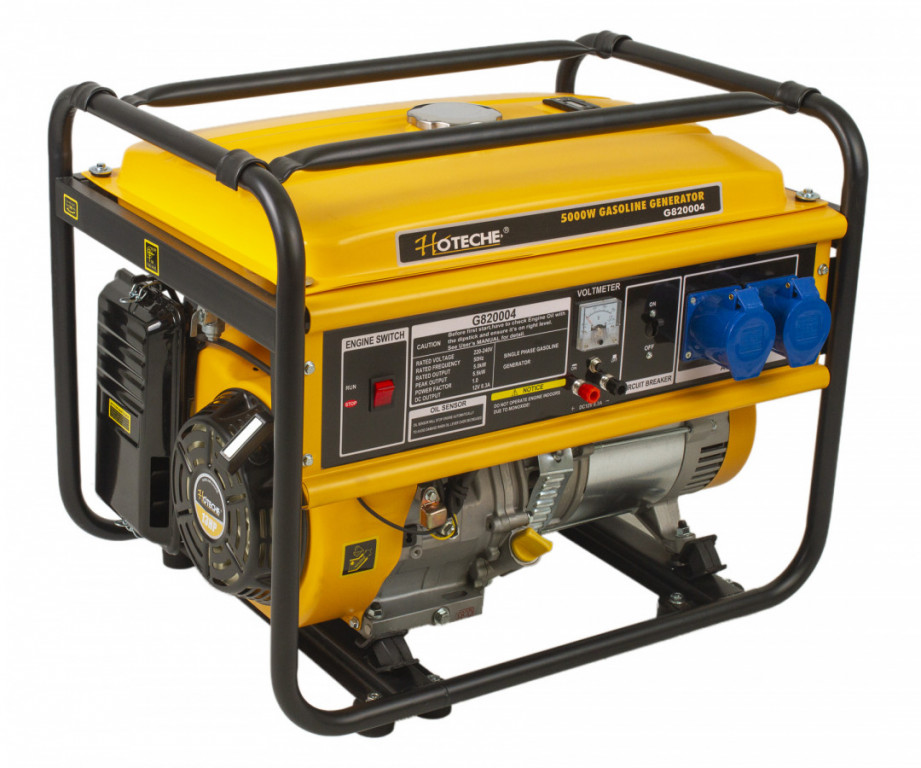 Benzínová elektrocentrála 5000 W - HTG820004 Hoteche
