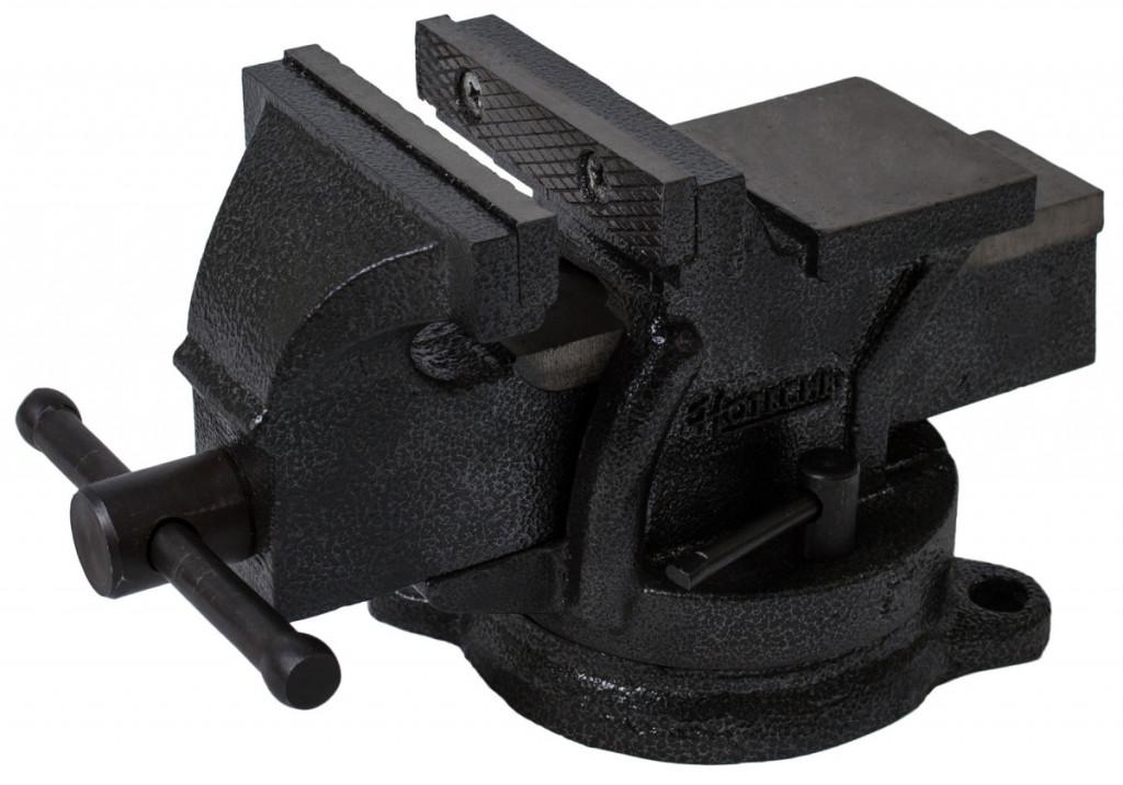 Otočný dílenský svěrák 100 mm, 6 kg - HT300102 Hoteche