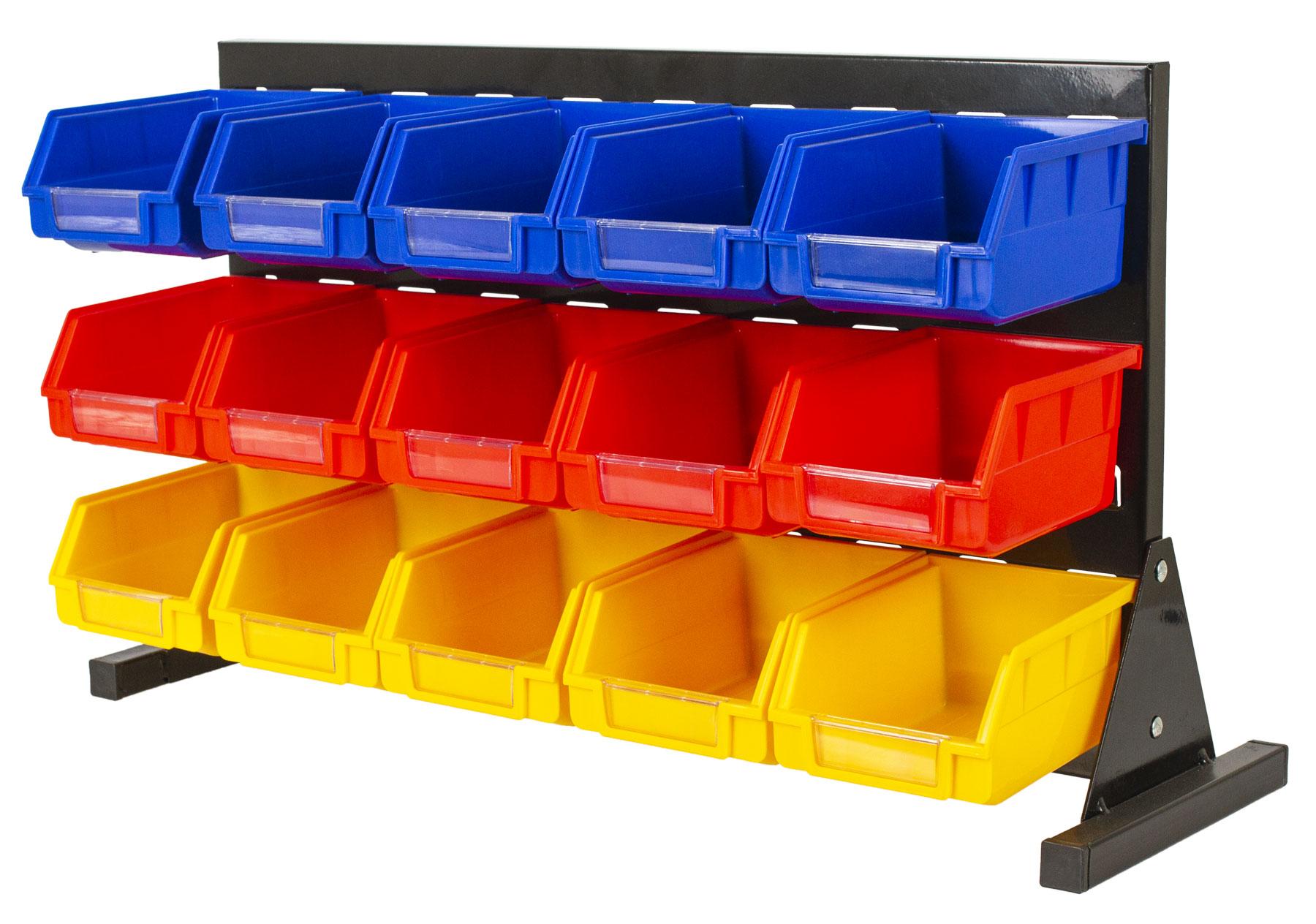 Kovový organizér na šroubky s 15 plastovými boxy - MSBRT2015 AHProfi