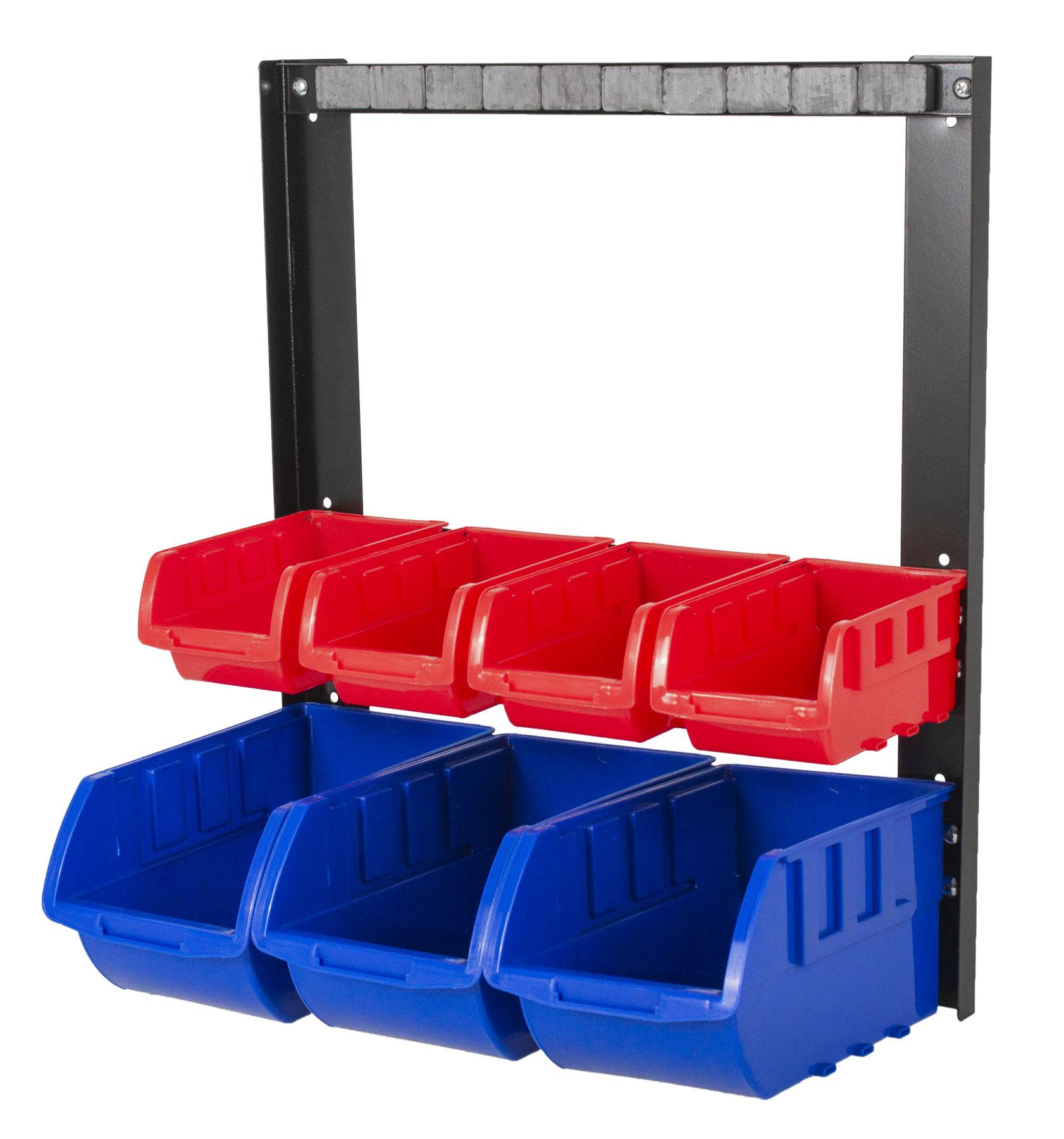 Kovový organizér s magnetickou lištou a 7 plastovými boxy (2/7) - MSBRW1707 AHProfi